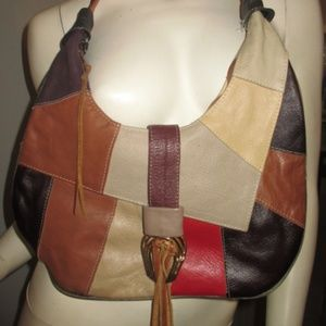 VINTAGE BOHO PATCHWORK LEATHER PURSE